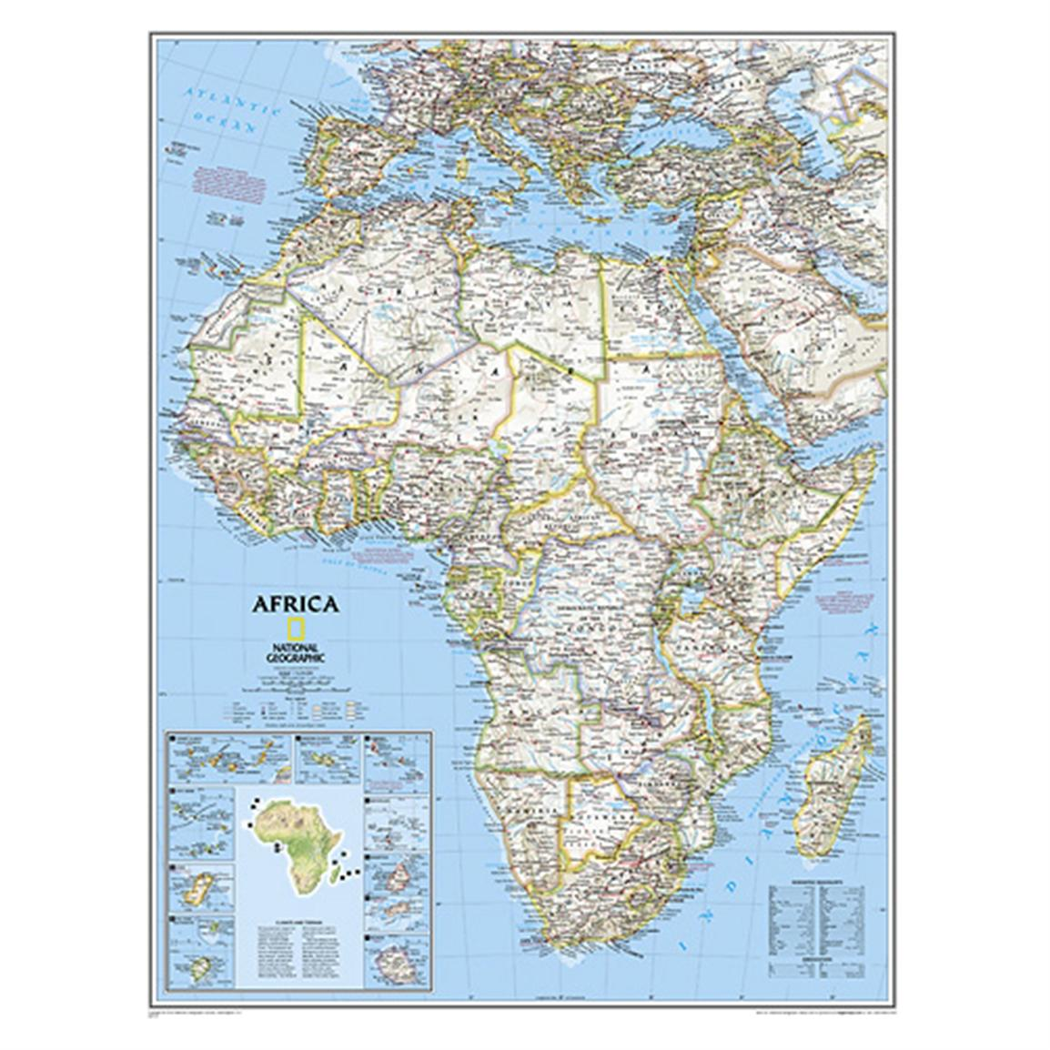National Geographic™ Africa Political Map