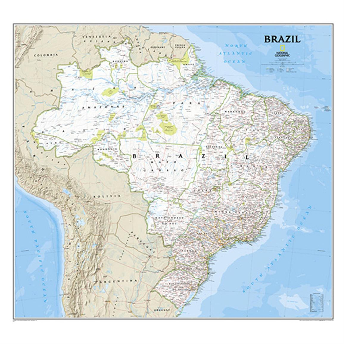 National Geographic™ Brazil Political Map