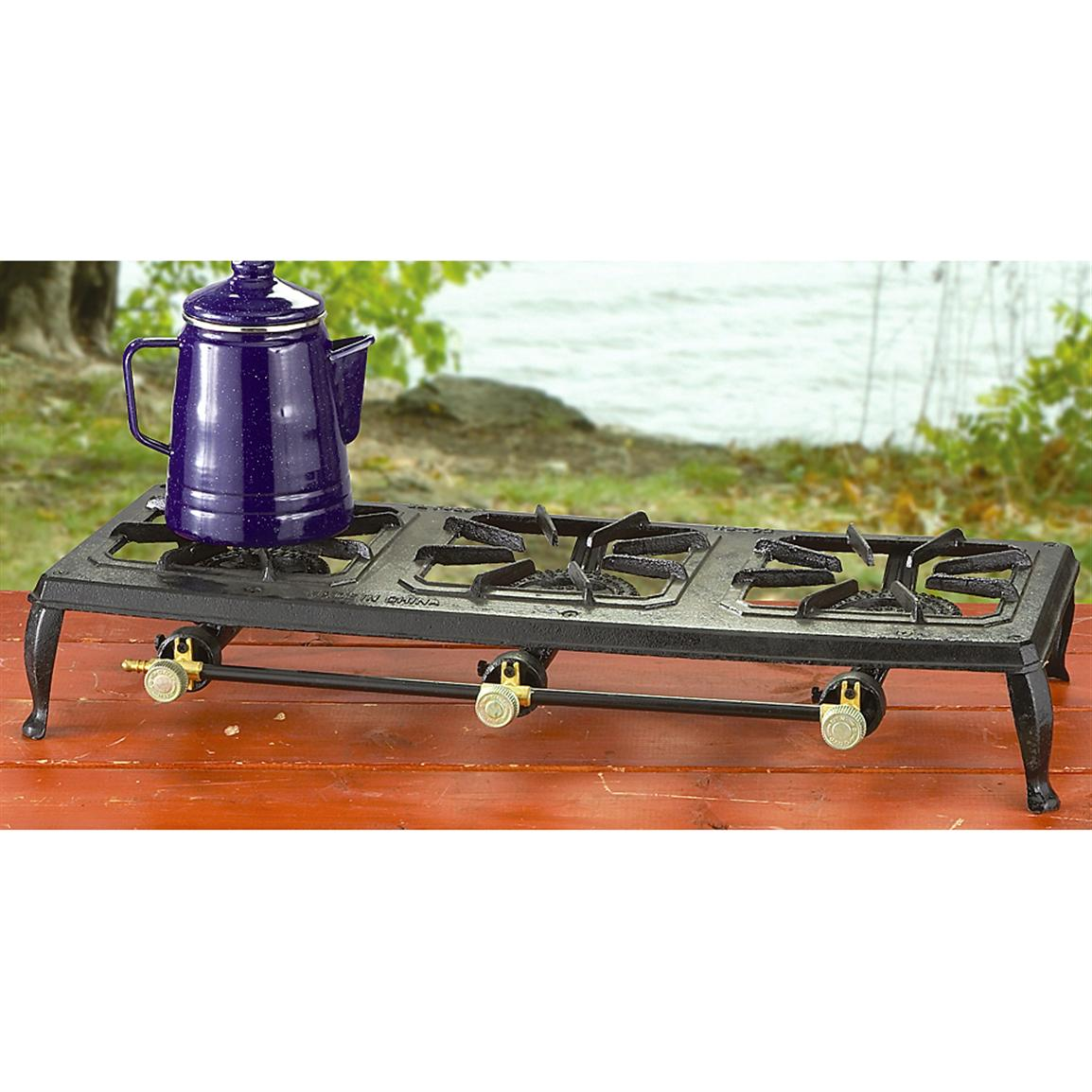 Guide Gear Triple-burner Cast Iron Stove