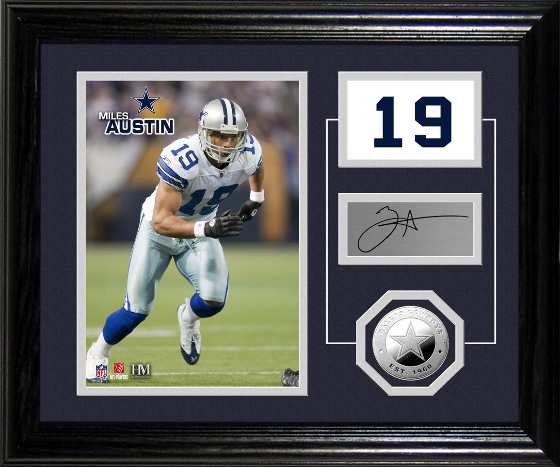 NFL Miles Austin Player Pride Desktop Bronze Coin and Photo Display