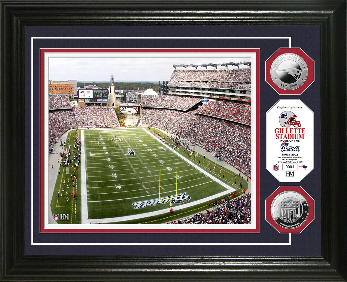 Gillette Stadium Silver Coin Photo Mint