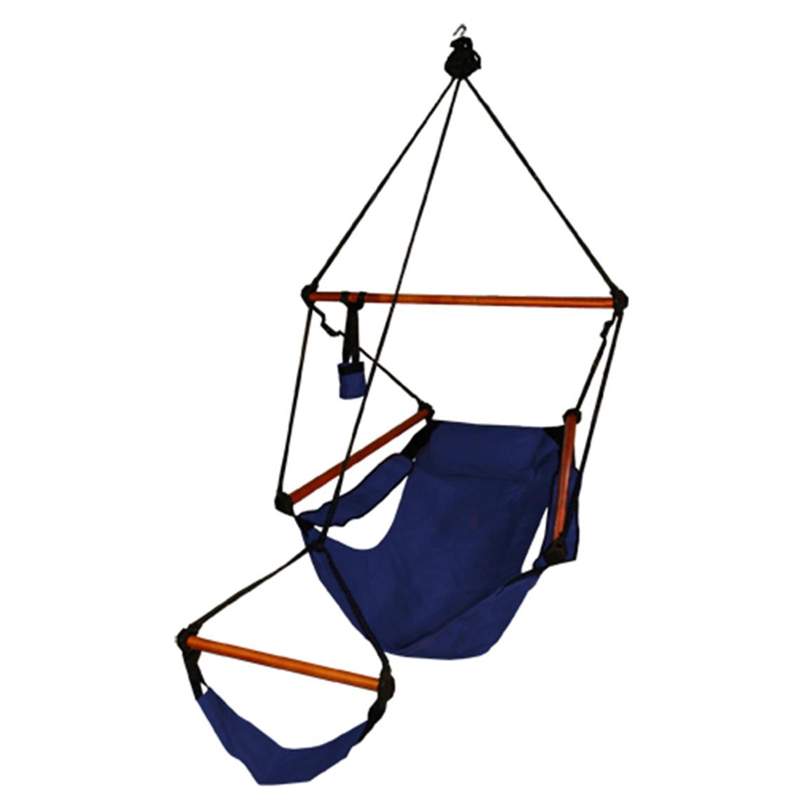 Hammaka® Hanging Air Chair with Wooden Dowel, Midnight Blue