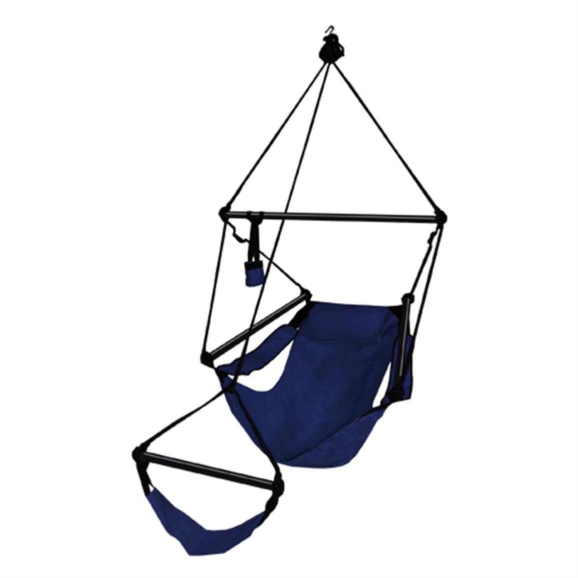 Hammaka® Hanging Air Chair with Aluminum Dowel, Midnight Blue