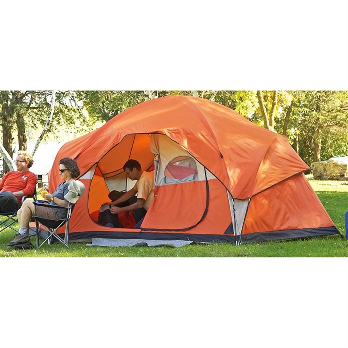 Guide gear 15x12 39 family dome tent 199540 dome tents for Cheap wall tent