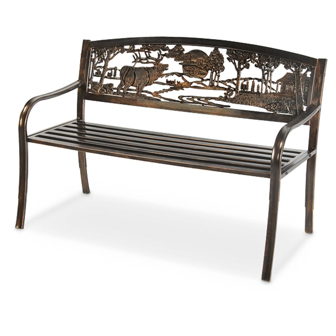 R.A. Guthrie Solid Metal Wildlife Bench