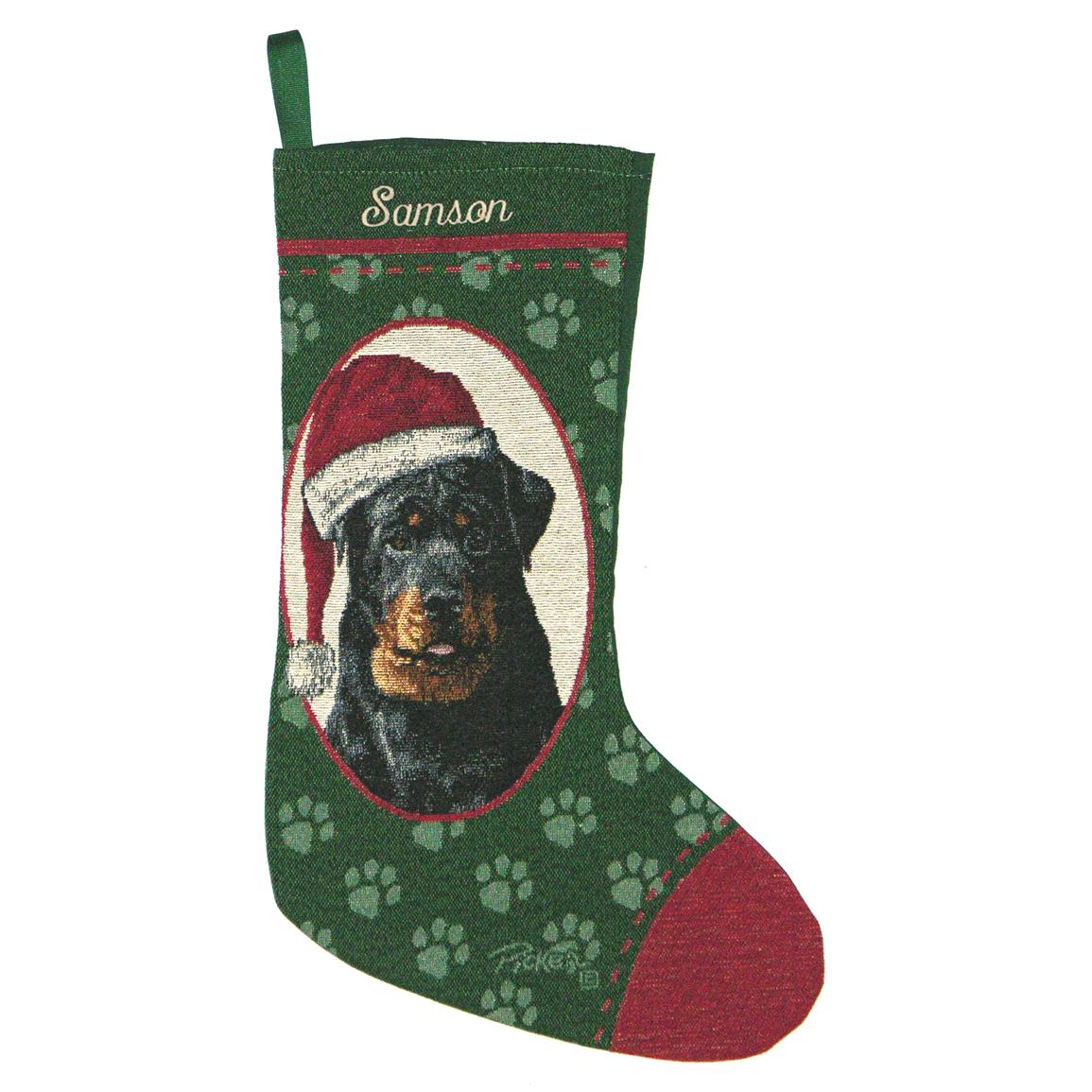 Personalized Rottweiler Stocking