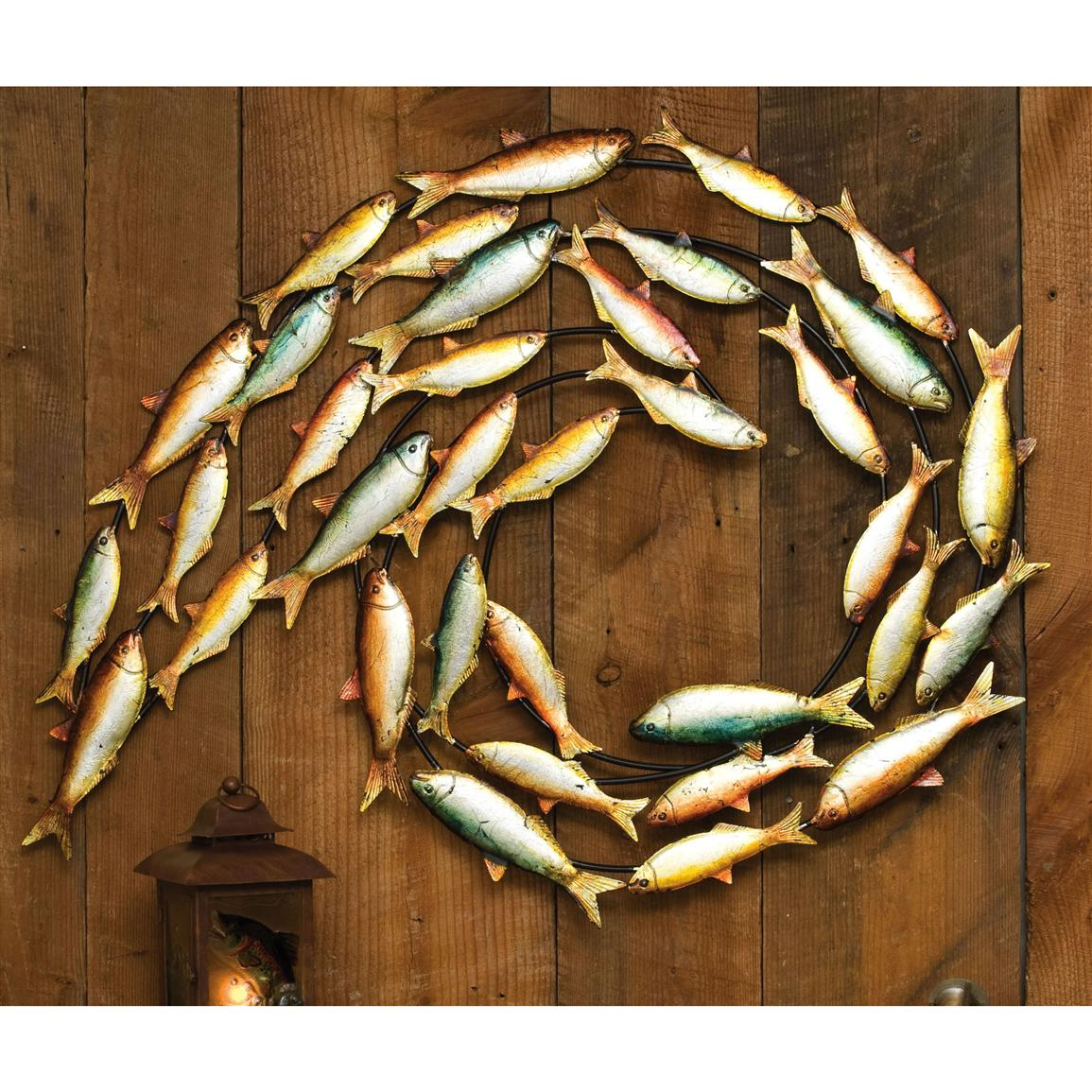 Metal fish wall decor 200141 wall art at sportsman 39 s guide for Fisherman home decor