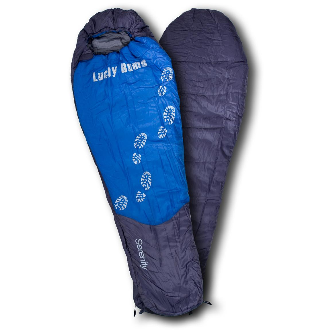 Kids' Lucky Bums® 64 inch Serenity 10°F Mummy Sleeping Bag, Blue