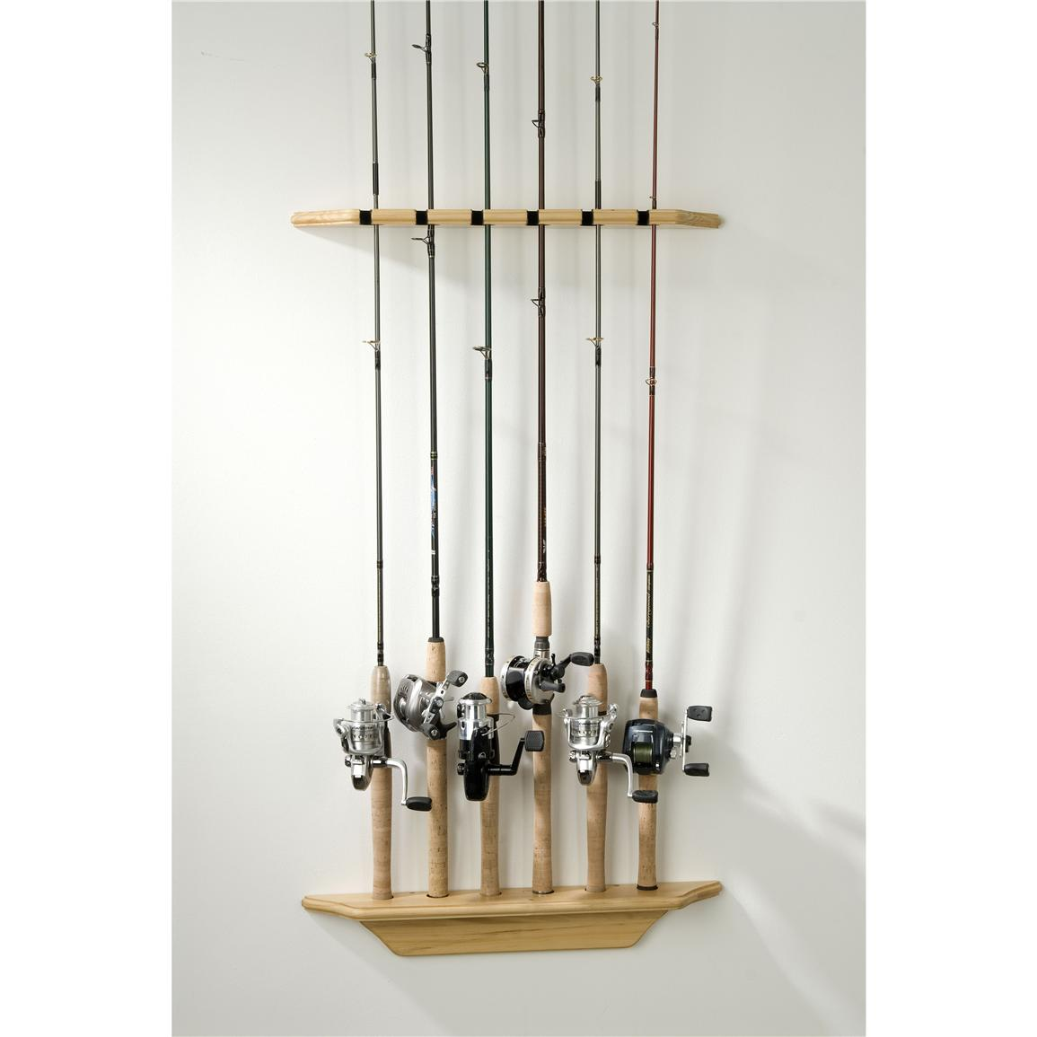 organized fishing vertical wall rod rack 200560 fishing