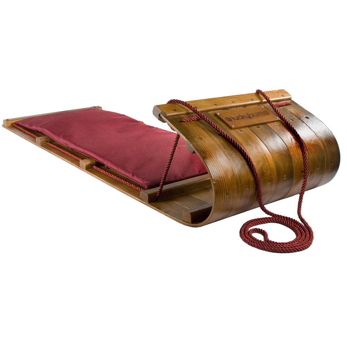 Lucky Bums® 6 foot Heirloom Collection Wooden Toboggan
