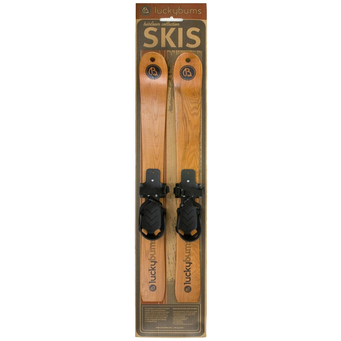 Lucky Bums® Heirloom Collection 27 inch Wooden Skis