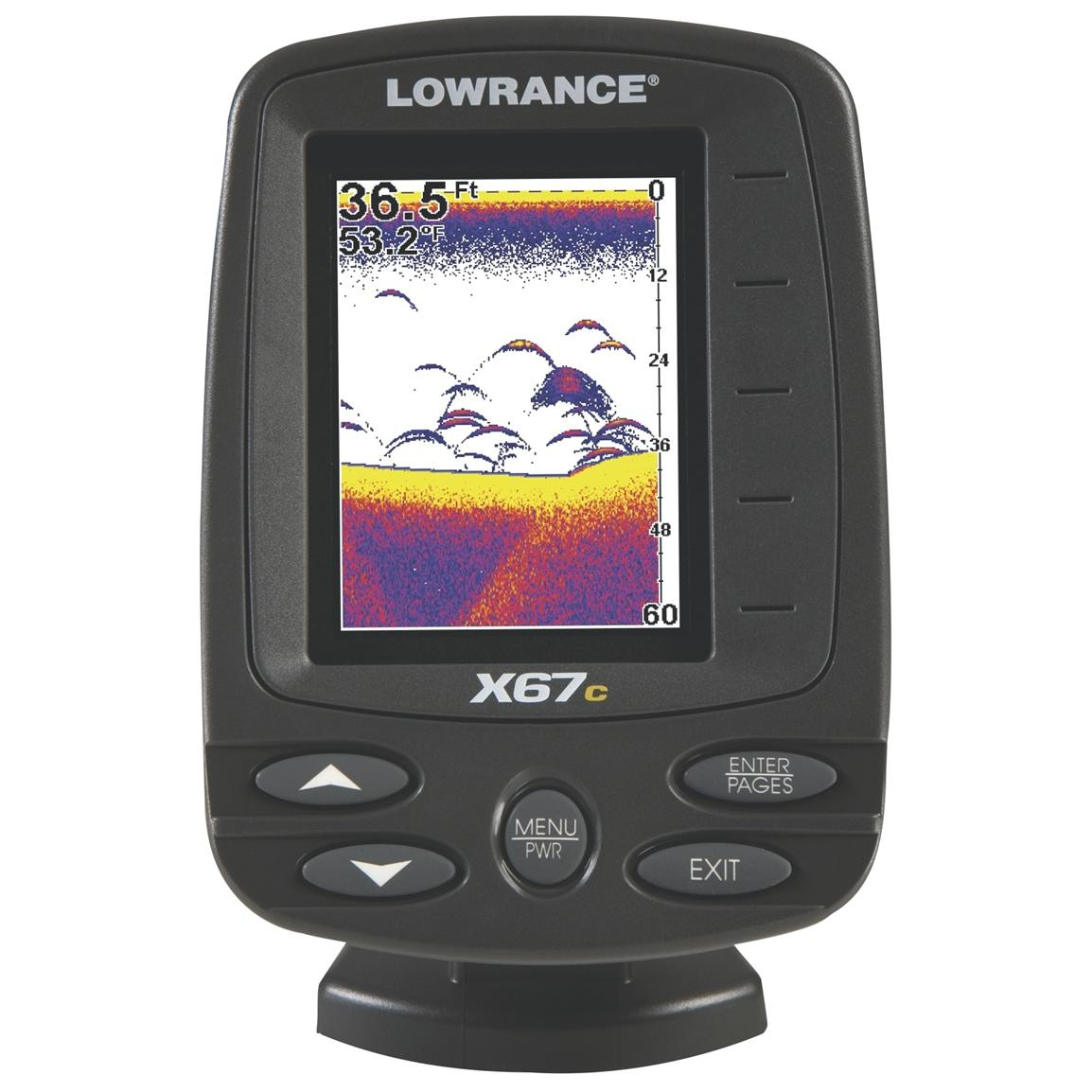 Lowrance x67c compact fishfinder 200808 ice fishing for Ice fishing electronics
