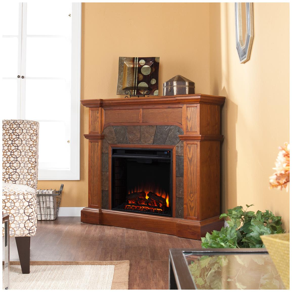 Cypress Electric Fireplace