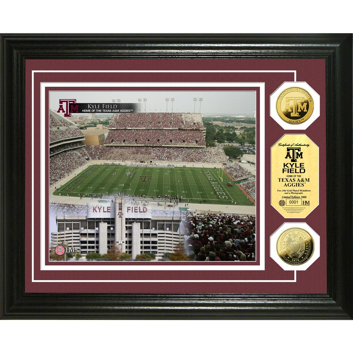 Highland Mint® Texas A&M Kyle Field 24KT Gold Coin Photo Mint Display
