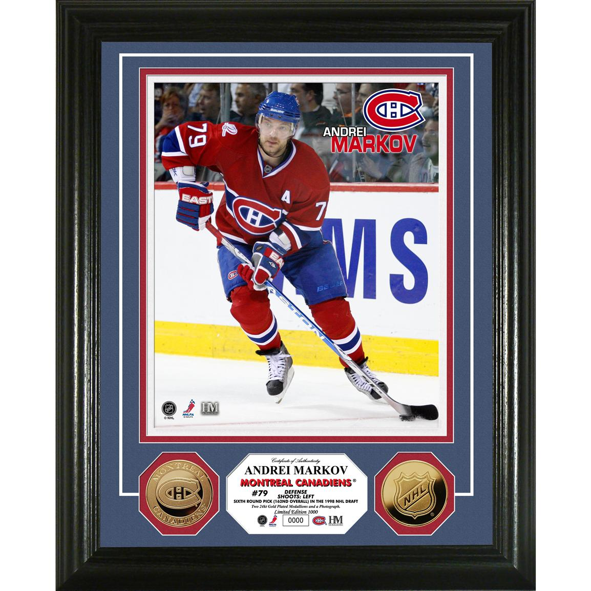 Andrei Markov 24K Gold Coin Photo Mint