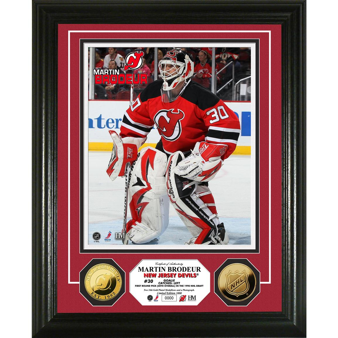 Martin Brodeur 24K Gold Coin Photo Mint