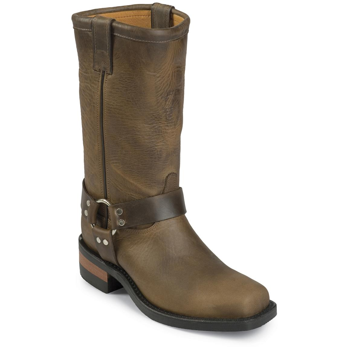 "Men's Chippewa® 12"" Snip Toe Harness Boots, Bay Apache"