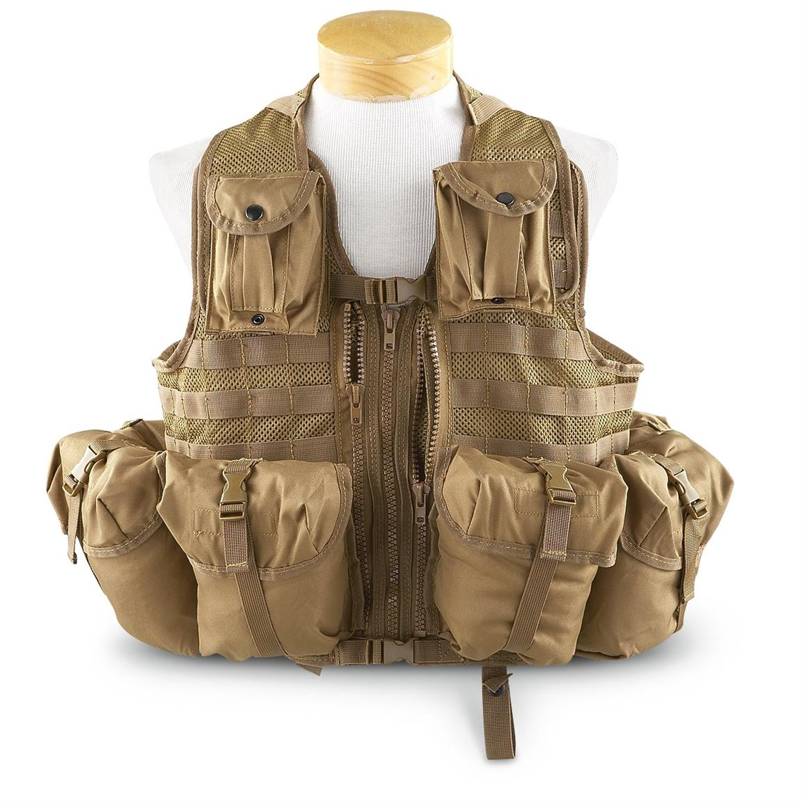 Mil-Tec® 9-Pc. Tactical Vest, Coyote