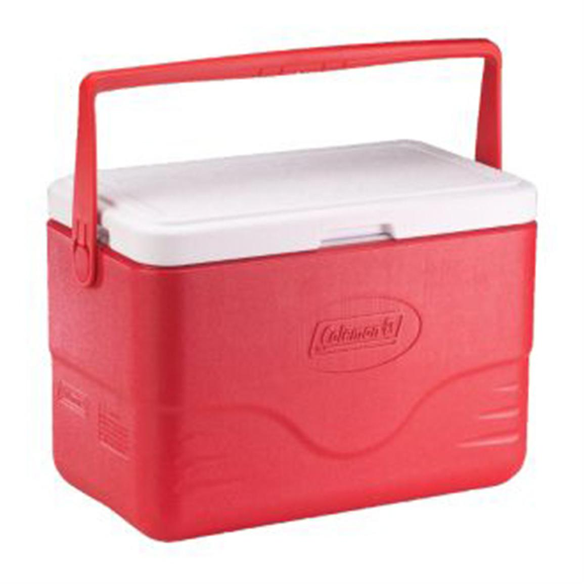 Coleman® 28-quart Red Cooler with Bail Handle