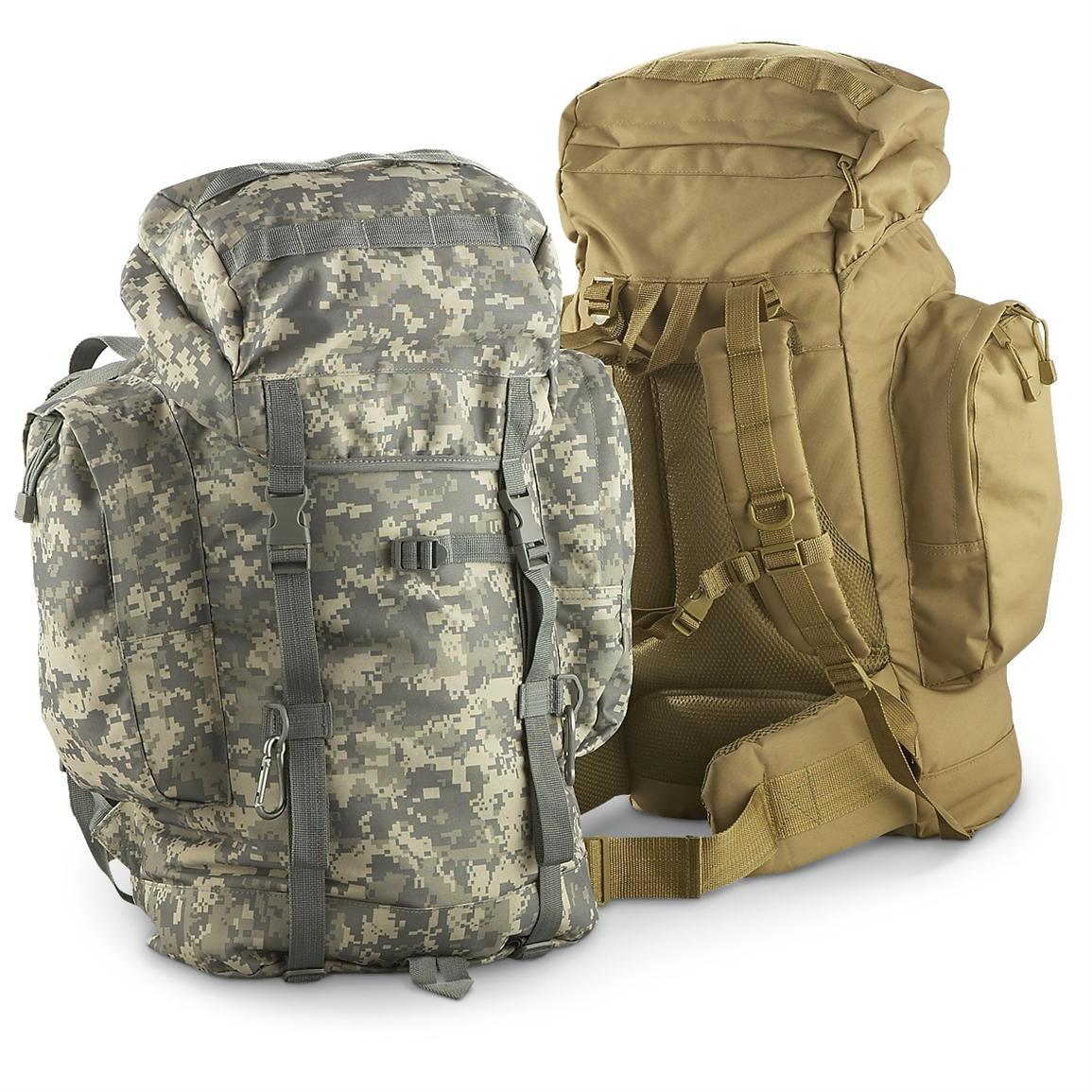 Fox Tactical® Military Surplus 45L Pack, Army Digital / Coyote • 3,900-cu. in. capacity