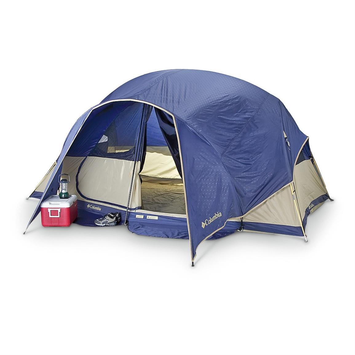 With Rainfly; Rainfly shelters the door and makes a gear vestibule  sc 1 st  Sportsmanu0027s Guide & Columbia® High Trail Family Tent - 202637 Cabin Tents at ...