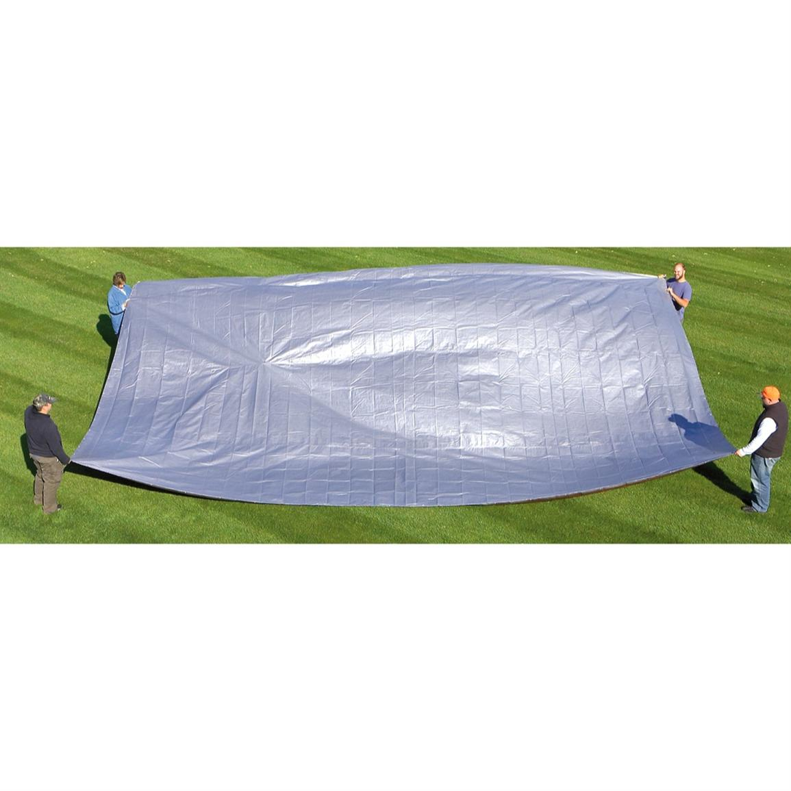All Purpose Reversible Poly Tarp, Silver and Blue