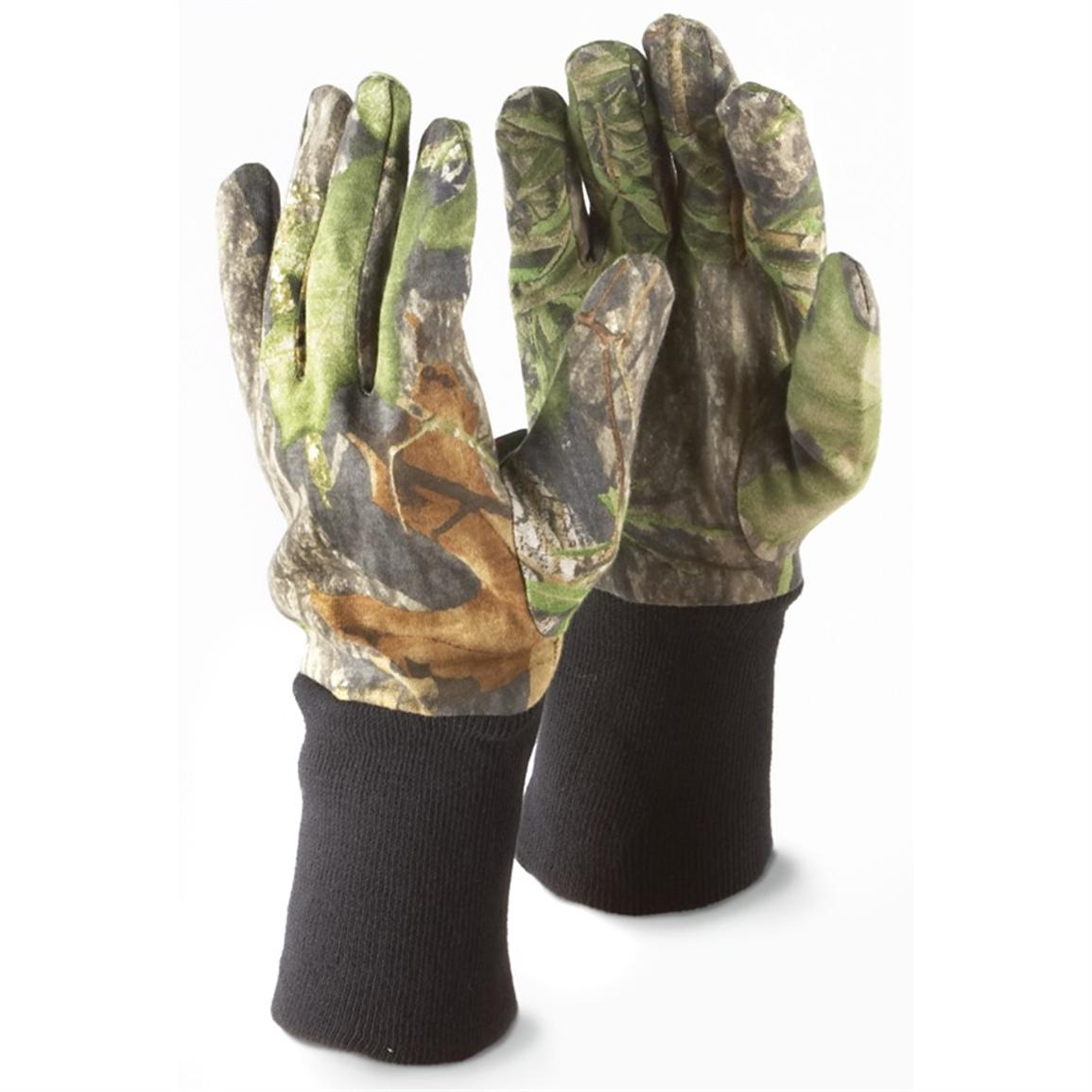 2 pairs Russell Outdoors® Explorer Shooter's Gloves, Mossy Oak® Obsession