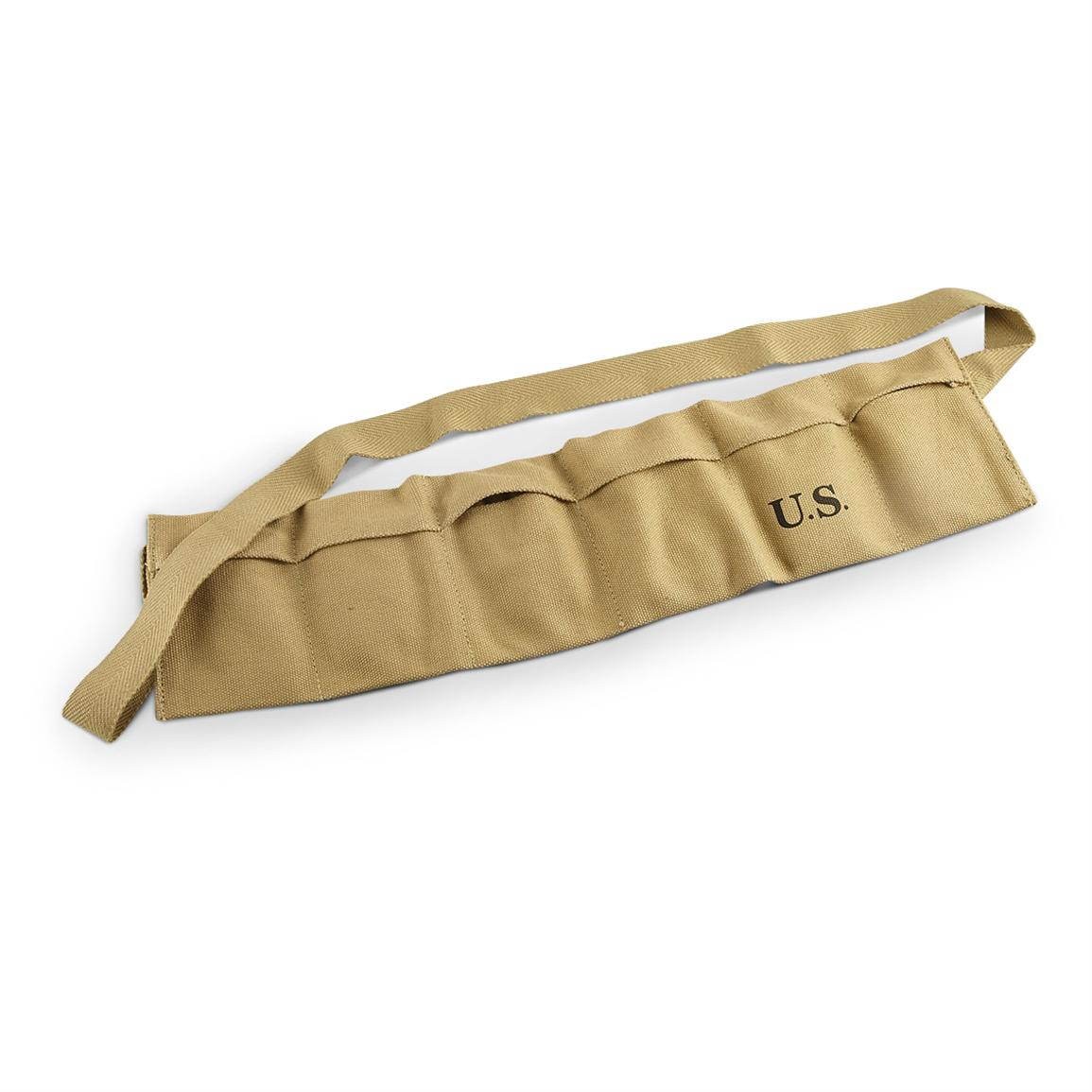 Reproduction 6-pocket Ammo Bandolier, Tan