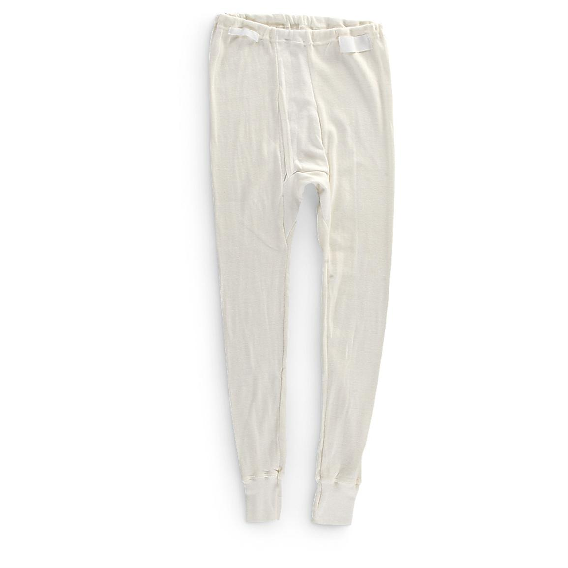 6 New German Military Surplus LJ Bottoms, Off-white