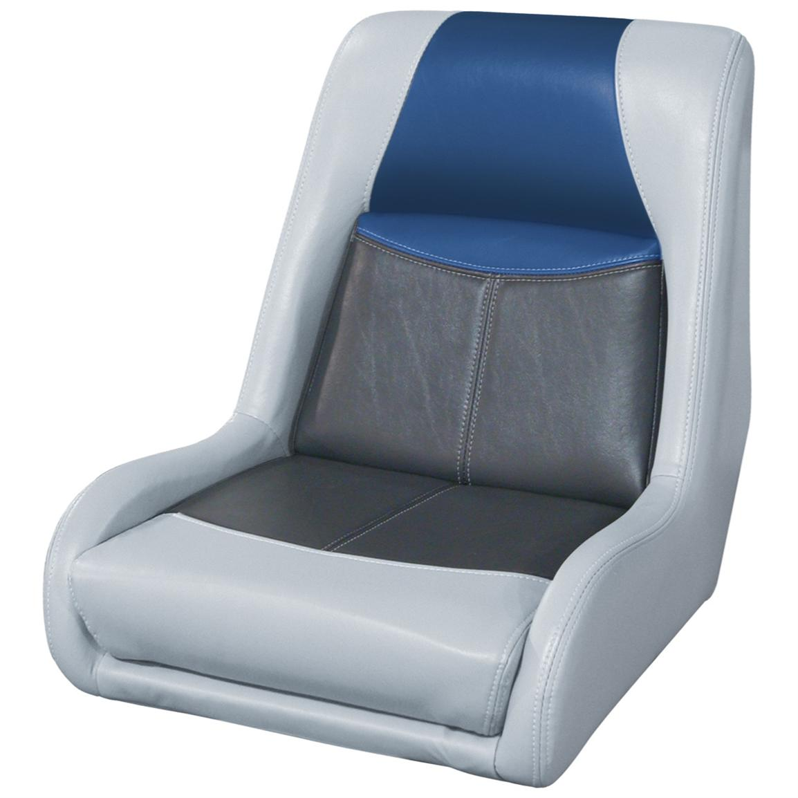 Wise® Blast-Off™ Series Swept Back Bass Bucket Seat, Grey / Charcoal / Blue