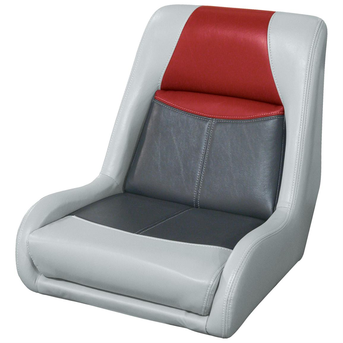 Wise® Blast-Off™ Series Swept Back Bass Bucket Seat, Grey / Charcoal / Red