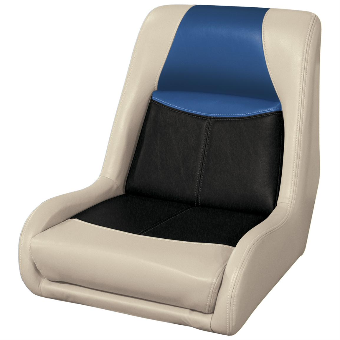 Wise® Blast-Off™ Series Swept Back Bass Bucket Seat, Mushroom / Black / Blue