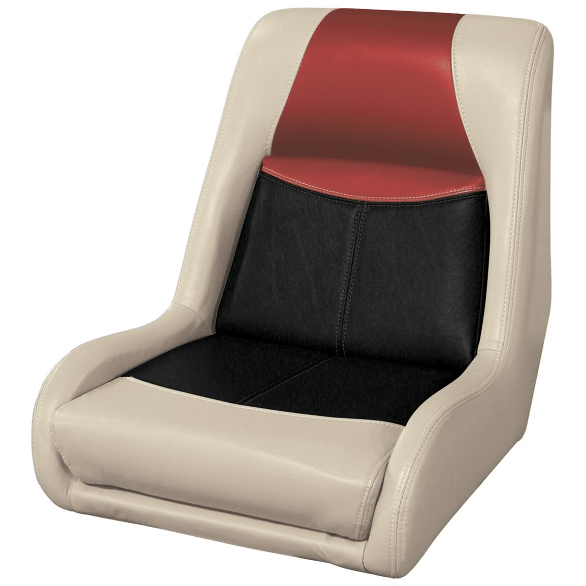 Wise® Blast-Off™ Series Swept Back Bass Bucket Seat, Mushroom / Black / Red