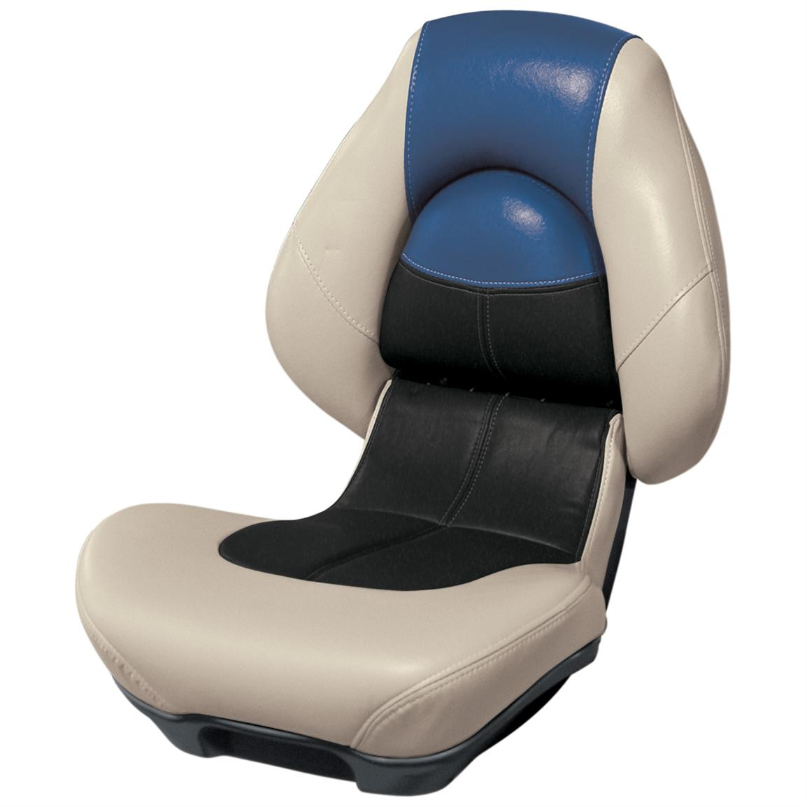 Wise® Blast-Off™ Series Centric 2 Folding Boat Seat, Mushroom / Black / Blue