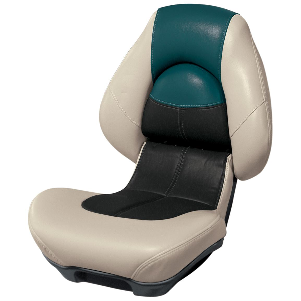 Wise® Blast-Off™ Series Centric 2 Folding Boat Seat, Mushroom / Black / Green