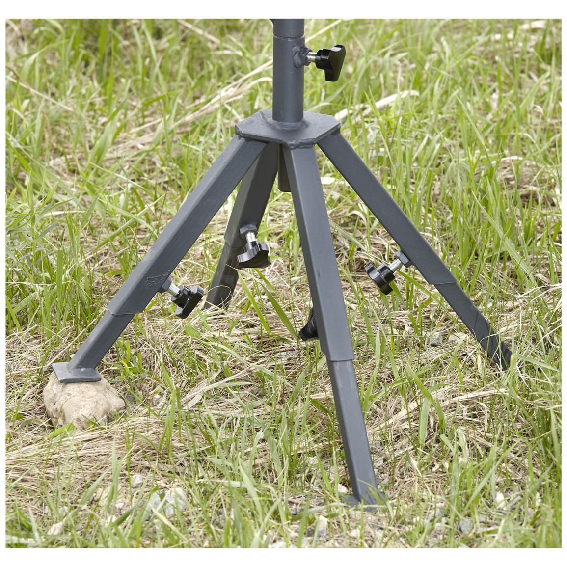4 level-adjustable aluminum legs allow for a stability on any terrain