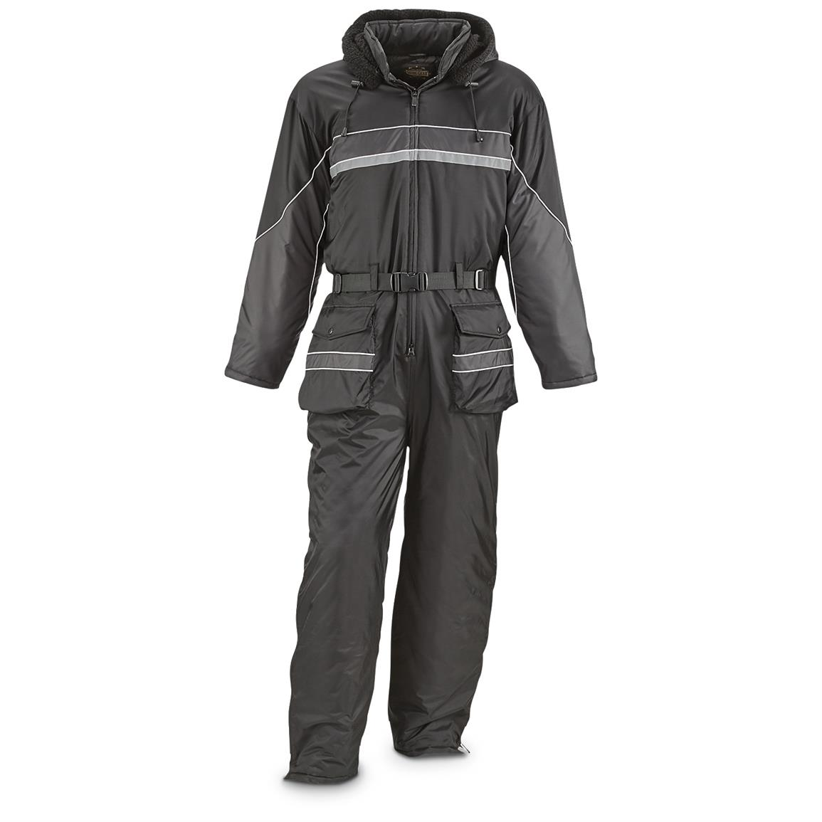 Guide Gear Men's One-Piece Snow Suit, Black / Gray
