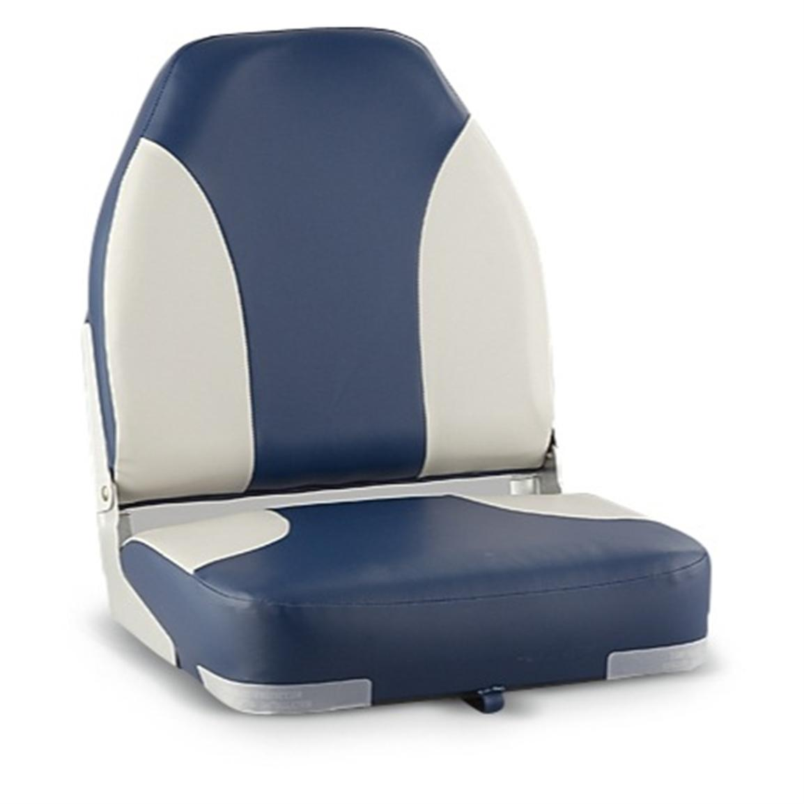 Wise® High-back Fishing Chair, Navy / Gray