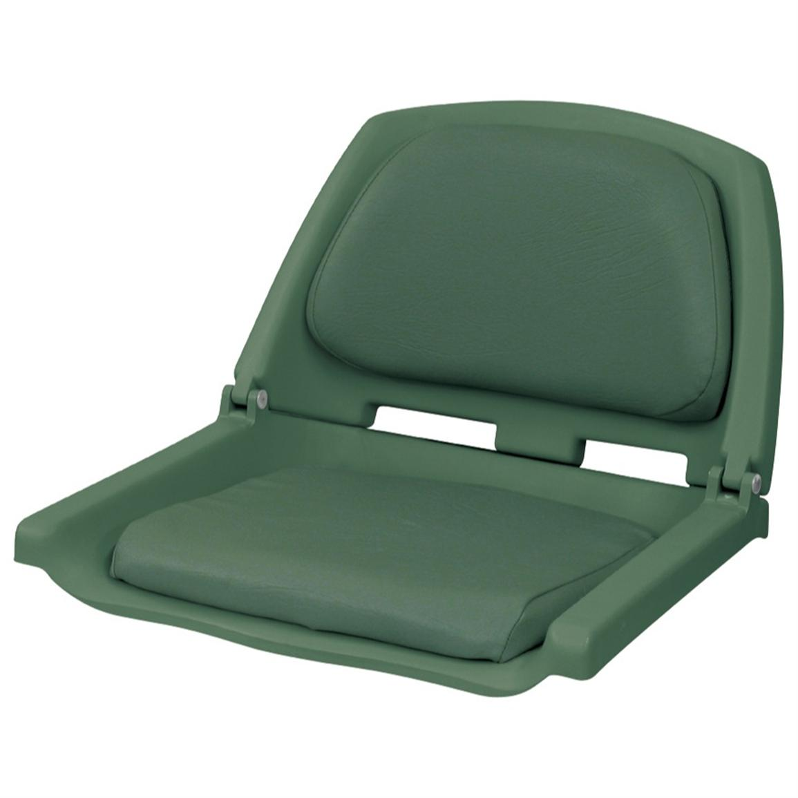 Wise® Folding Fishing Boat Seat, Green / Green