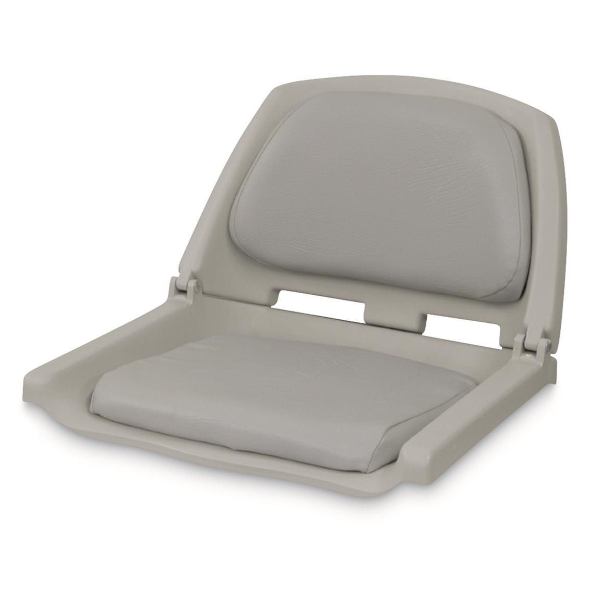 Wise Folding Fishing Boat Seat, Gray