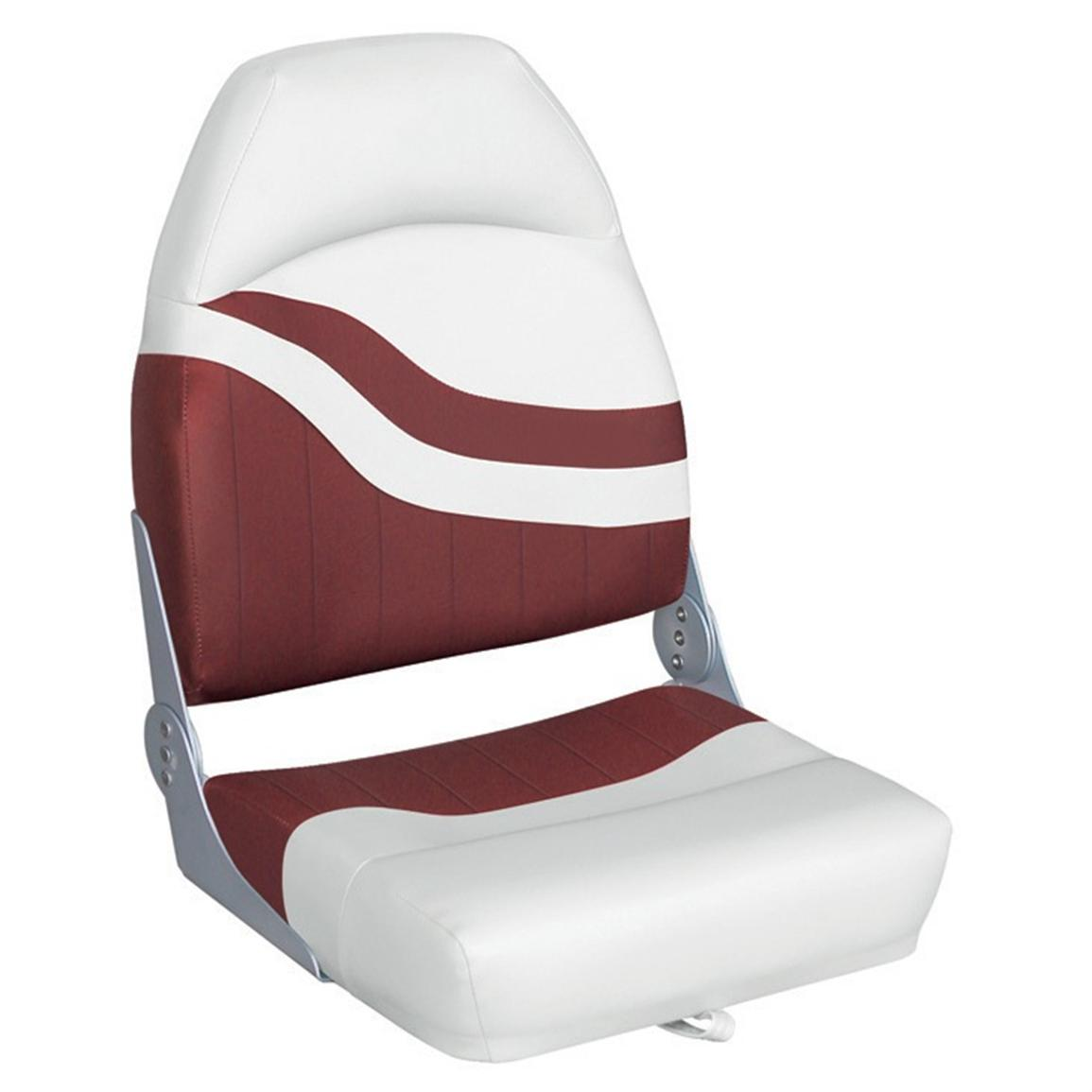 Wise® Weekender Series Boat Seat, White / Red