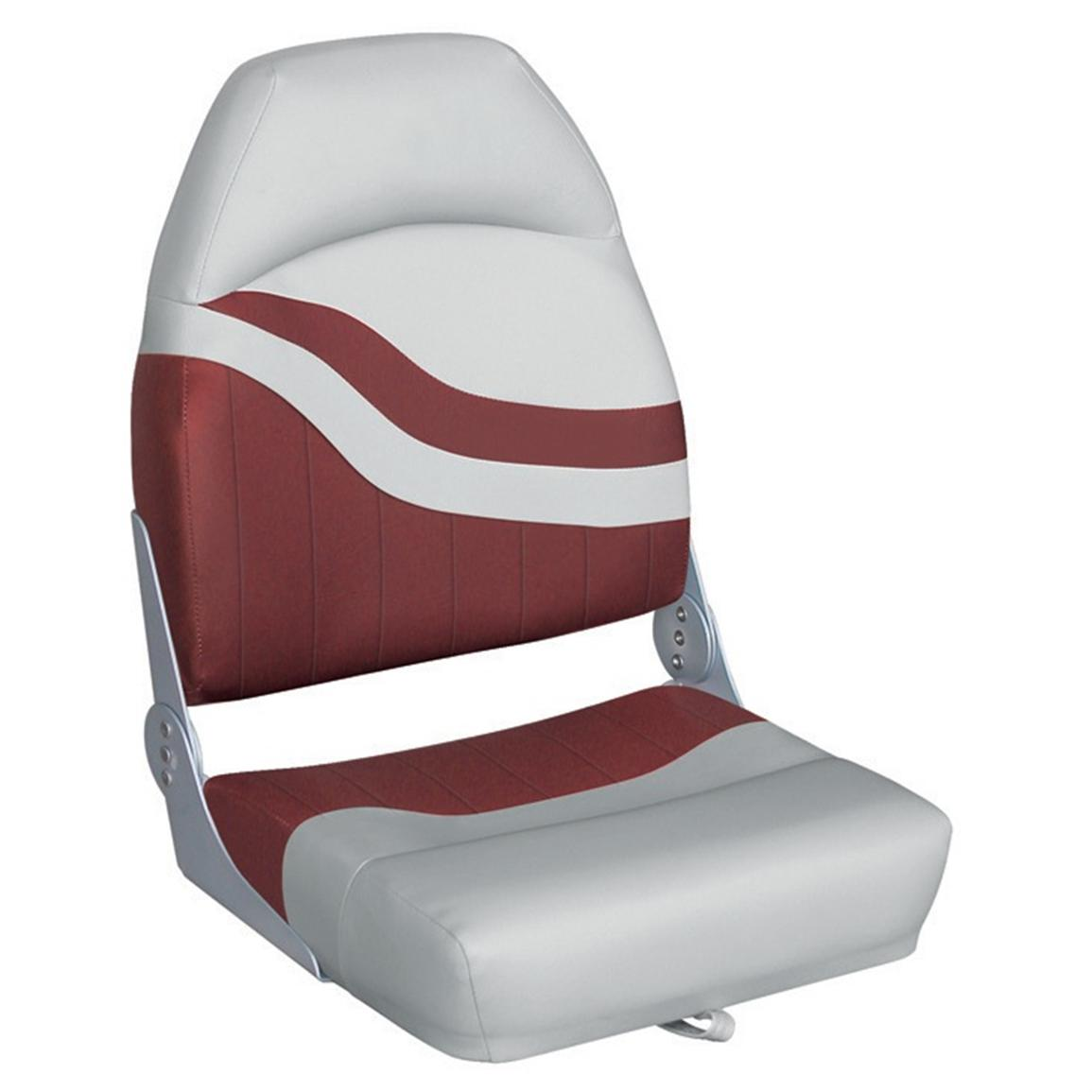 Wise® Weekender Series Boat Seat, Grey / Red