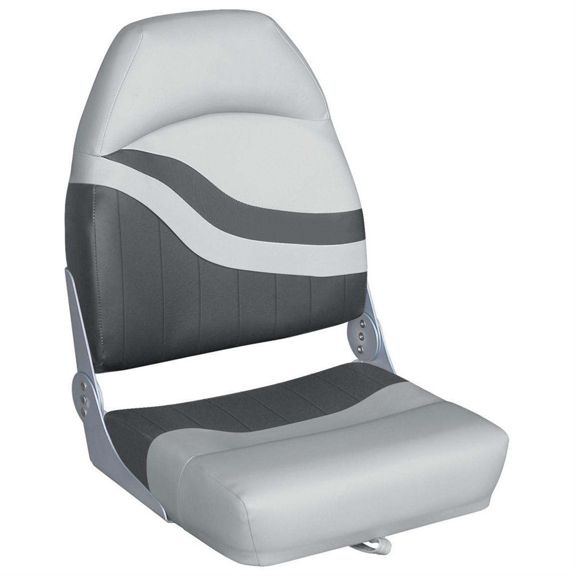 Wise® Weekender Series Boat Seat, Grey / Charcoal