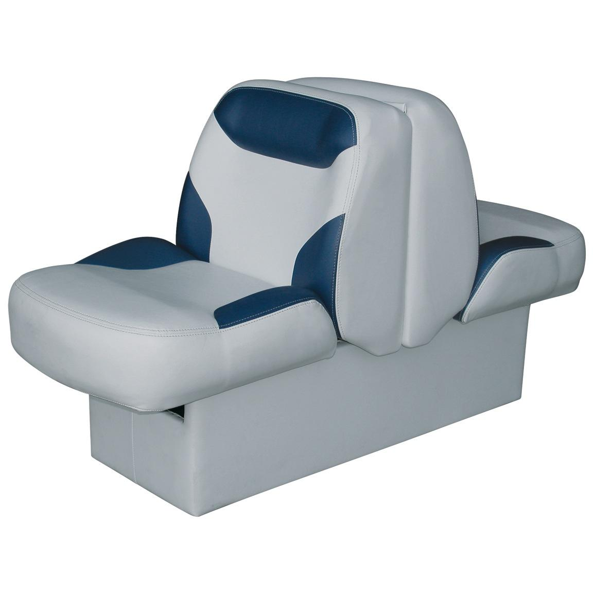 Wise® Bayliner Replacement Lounge Seat, With Base, Grey / Navy