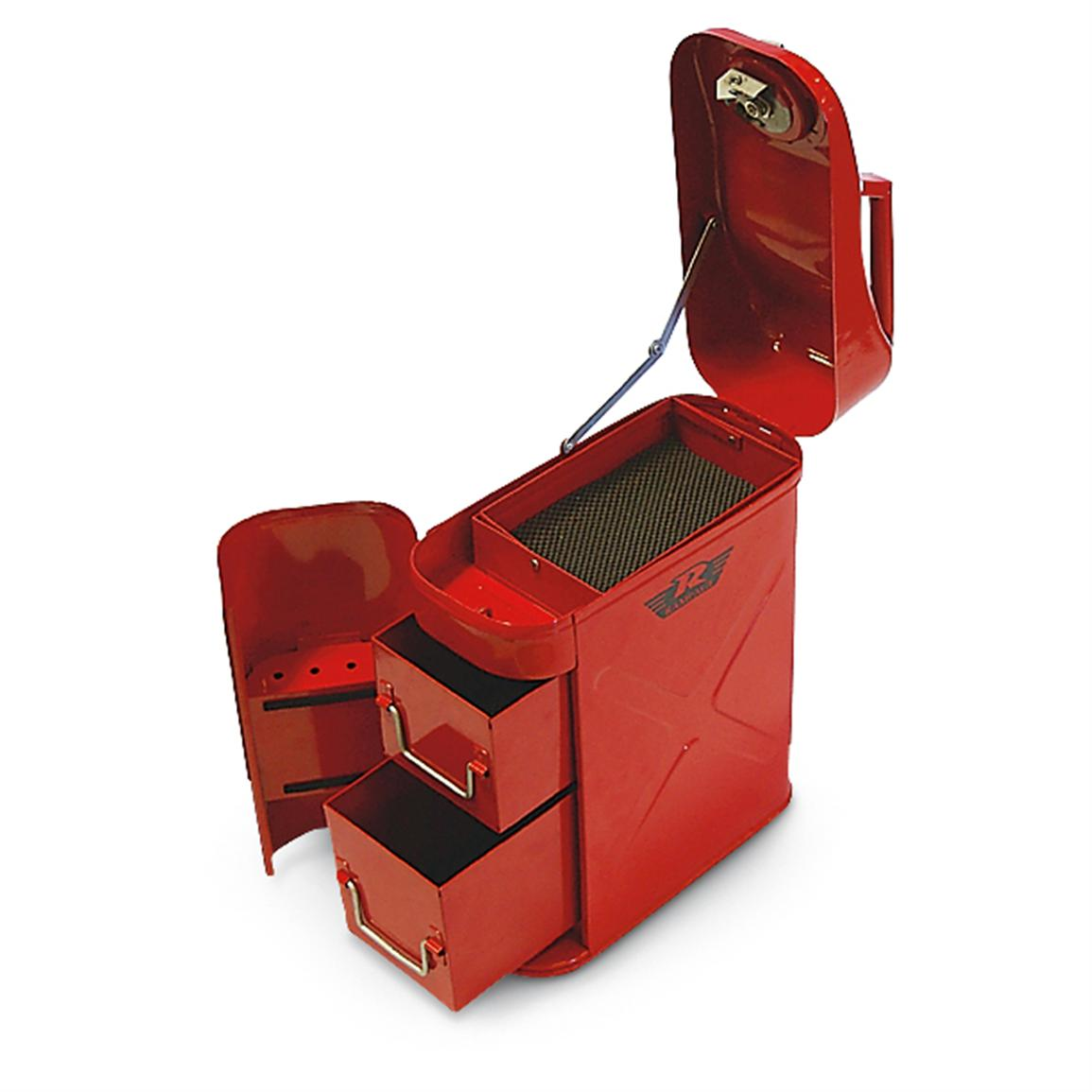 Trail Can / Utility Tool Box, Red