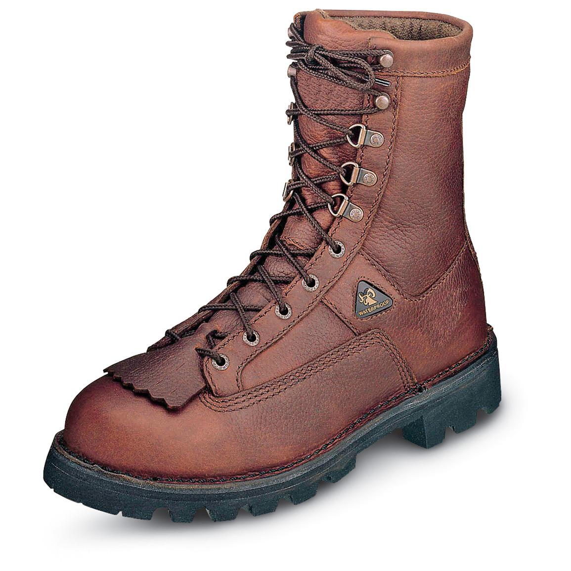 Rocky Portland Waterproof 400 gram Thinsulate Ultra Insulation Steel Toe Boots, Brown