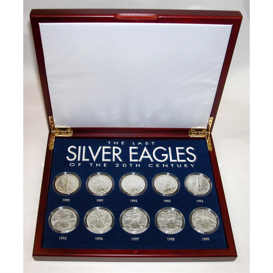 American Coin Treasures® The Last Silver Eagles of the 20th Century 10-Pc. Collection