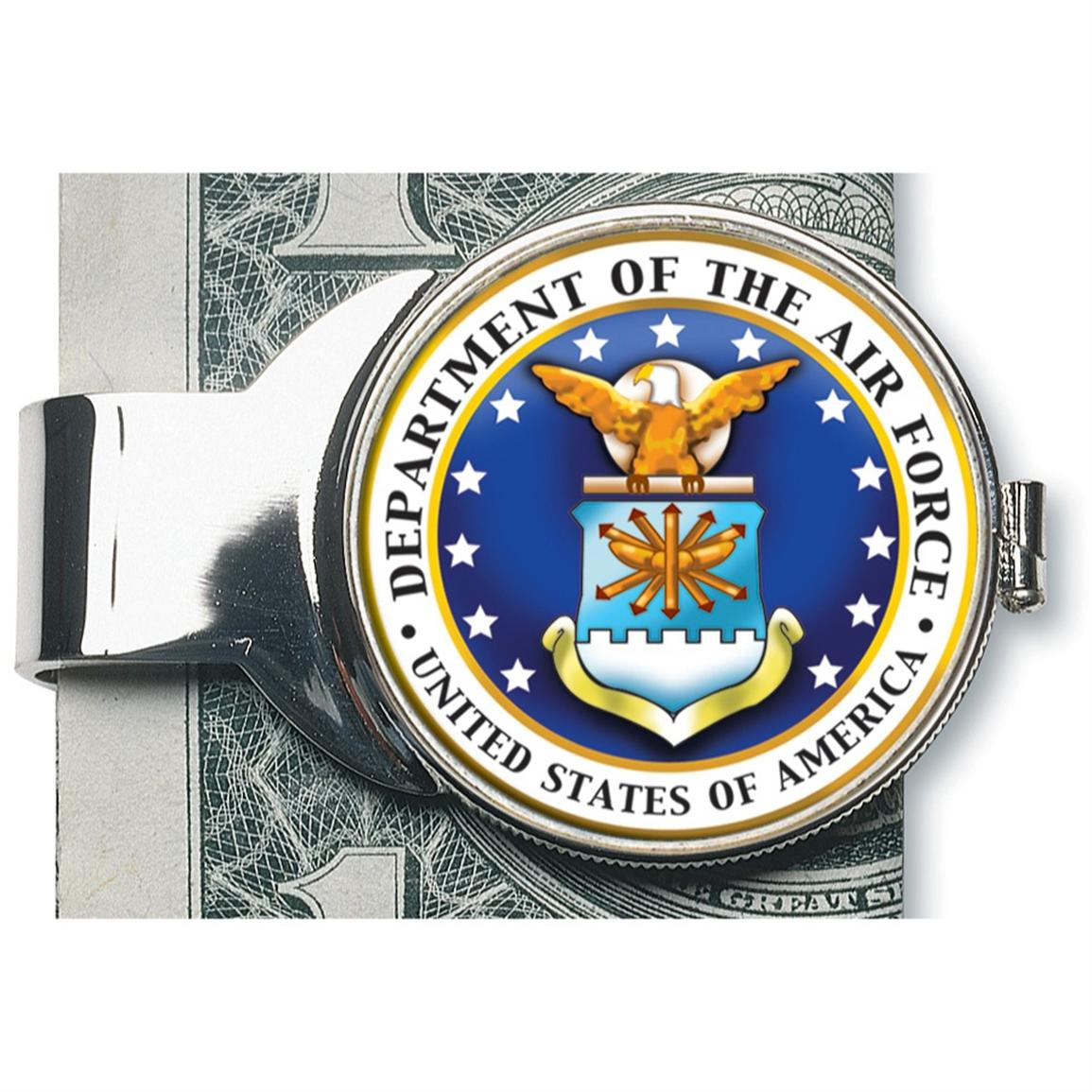 American Coin Treasures® Silver-Toned Moneyclip with Colorized Air Force JFK Half-Dollar
