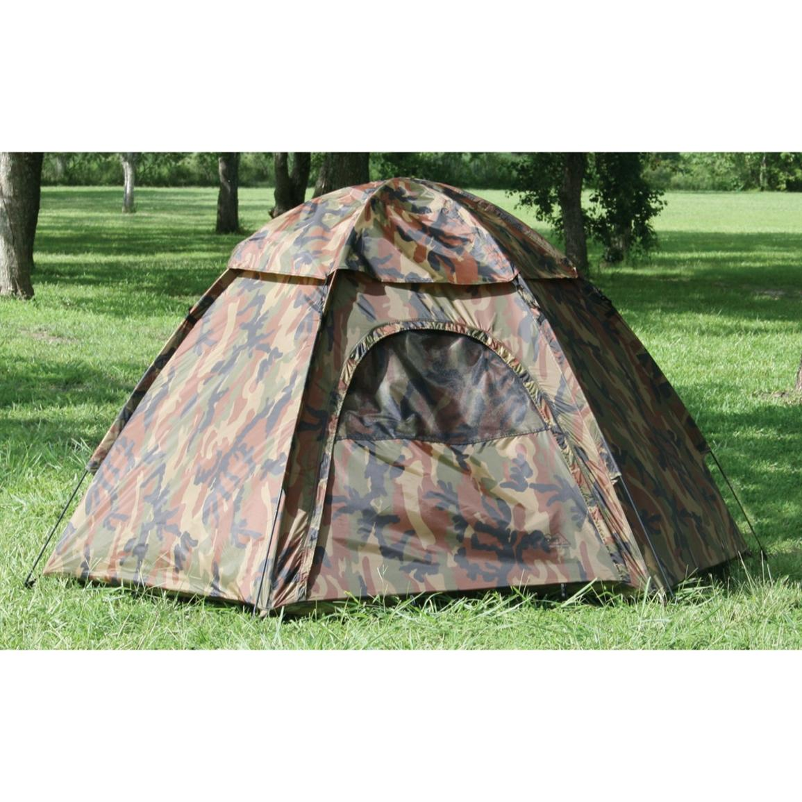 Texsport® Hide-A-Way Camouflage 3-person Dome Tent with Rainfly