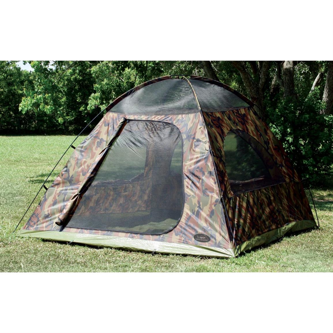 Texsport Headquarters Camouflage 5-Person Dome Tent without Rainfly